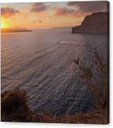 Santorini Sunset Caldera Canvas Print