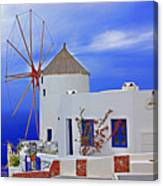 Santorini Windmills Canvas Print