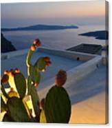 Santorini.fira Sunset Canvas Print