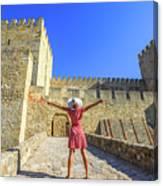 Sao Jorge Castle Tourist Canvas Print