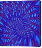 Sapphire Swirl Canvas Print