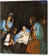 Saraceni Carlo The Birth Of Christ Canvas Print