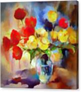 Sara's Colorful Bouquet  Canvas Print