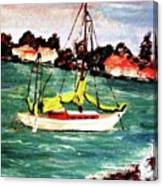 Sarasota Bay Sailboat Canvas Print
