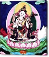 Saraswati Playing A Veena Canvas Print