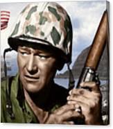 Sargent Stryker U S M C  Iwo Jima Canvas Print