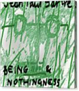 Sartre Poster Jp  Canvas Print