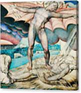Satan Smiting Job With Sore Boils Canvas Print