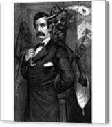 Satan Tempting John Wilkes Booth Canvas Print