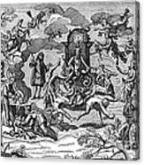 Satan With Cavorting Dancers, 18th Canvas Print
