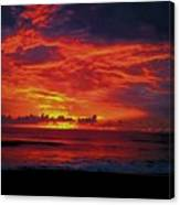Satellite Beach Sunrise Canvas Print