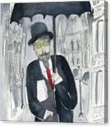 Satie Walking In The Rain Canvas Print