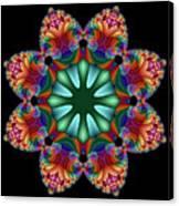 Satin Rainbow Fractal Flower II Canvas Print