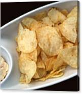 Satisfy The Craving With Chips And Dip Canvas Print