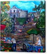 Saturday At Alamo Plaza Canvas Print