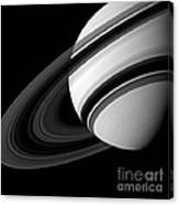Saturn And Tethys Canvas Print
