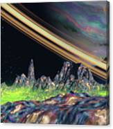 Saturn View Canvas Print