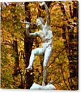 Satyr In Luxembourg Garden Paris France Canvas Print