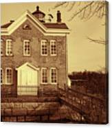 Saugerties Lighthouse Sepia Canvas Print