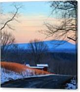 Sauratown View In Winter Canvas Print