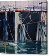 Sausalito Docks Canvas Print