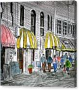 Savannah Georgia River Street 2 Painting Art Canvas Print