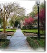Savannah Park. Canvas Print