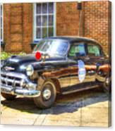 Savannah Police Car 1953 Chevrolet  Canvas Print