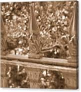 Savannah Sepia - Finials Canvas Print