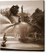 Savannah Sepia - Forsyth Fountain Canvas Print