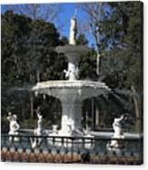 Savannah Square Fountain Canvas Print