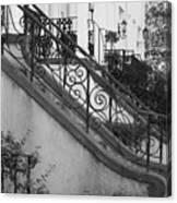 Savannah Stoops - Black And White Canvas Print
