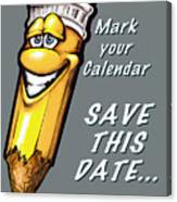 Save This Date Canvas Print