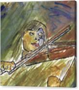 Saving Grace - A Portrait Of Robin Hoch Canvas Print
