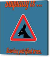Sawing Bigstock Donkey 171252860 Canvas Print