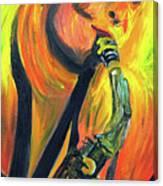 Sax Diva Canvas Print