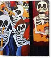 Sax Guitar Music Day Of The Dead  Canvas Print