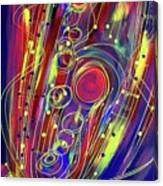 Sax Jazzed In Pink Canvas Print