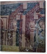 Saxon Medieval Frescoes, Transylvania Canvas Print