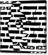 Saxophone Player Or Woman Maze Canvas Print