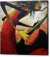 Saxophonist  Canvas Print
