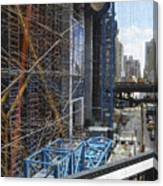 Scaffolding In The City Canvas Print