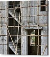Scaffolds And Stairs Canvas Print