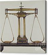 Scales For Weighing Gold Canvas Print