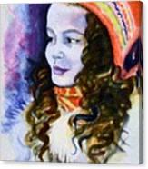 Scandinavian Girl Canvas Print