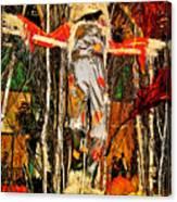 Scarecrow In Bellagio Conservtory In Las Vegas-nevada Canvas Print