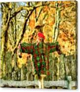 scarecrow in field at Stanhope Waterloo Village Canvas Print