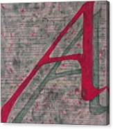 Scarlet Letter With Green Background Canvas Print
