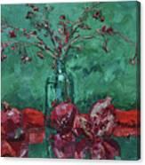 Scarlet Pomegranates Canvas Print