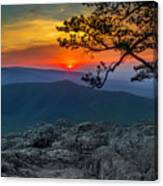 Scarlet Sky At Ravens Roost Canvas Print